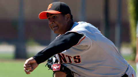 The Giants signed Mejia out of the Dominican Republic in March 2011.
